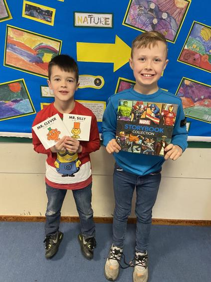 Well done to these book raffle prize winners!
