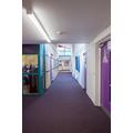 Corridor outside hall