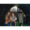 Some Stone Age children hiding in a cave!