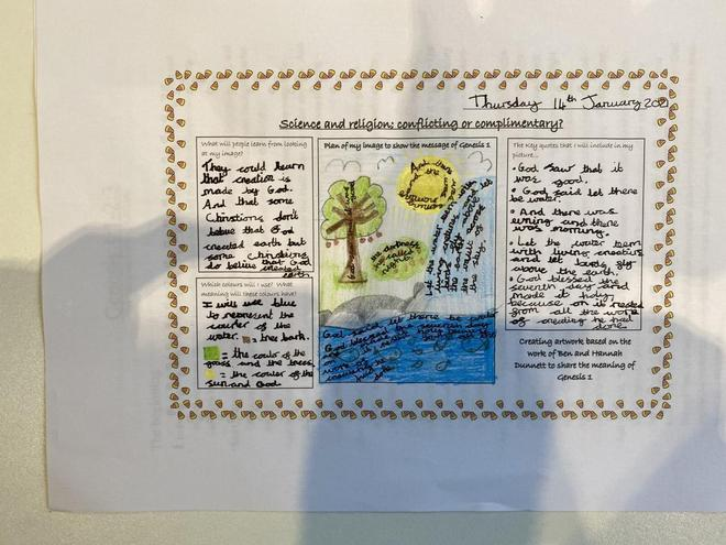 Year 5 - Investigating the creation story through text and artwork.