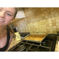 Miss Allen baking flapjacks (Yummy)