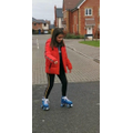 Anabel roller skating