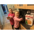 Maddie has been baking with her sister