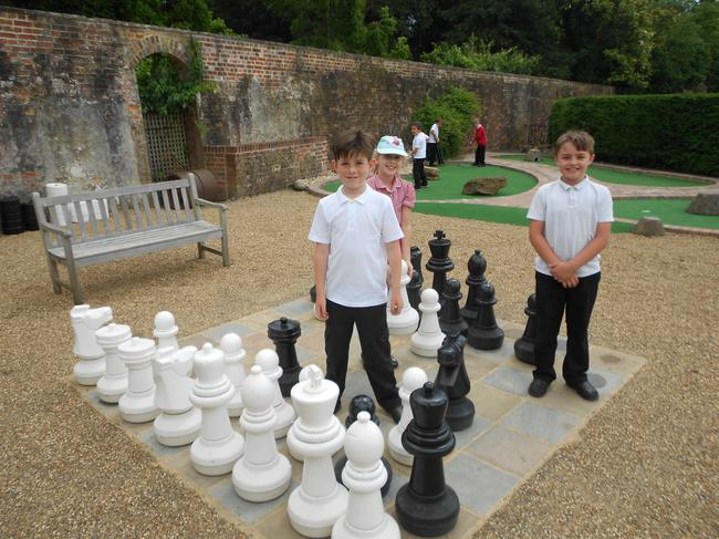 We were lucky enough to play with the giant chess!
