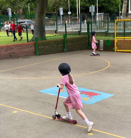 BiddyAve Buddies full use of the playground and school facilities