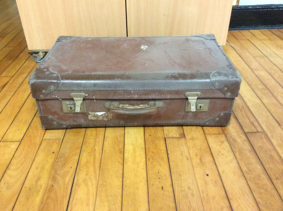The first artifact we had was an old suitcase.