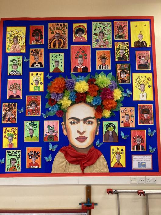 Display by Year 3 - Inspired by Frida Kahlo.