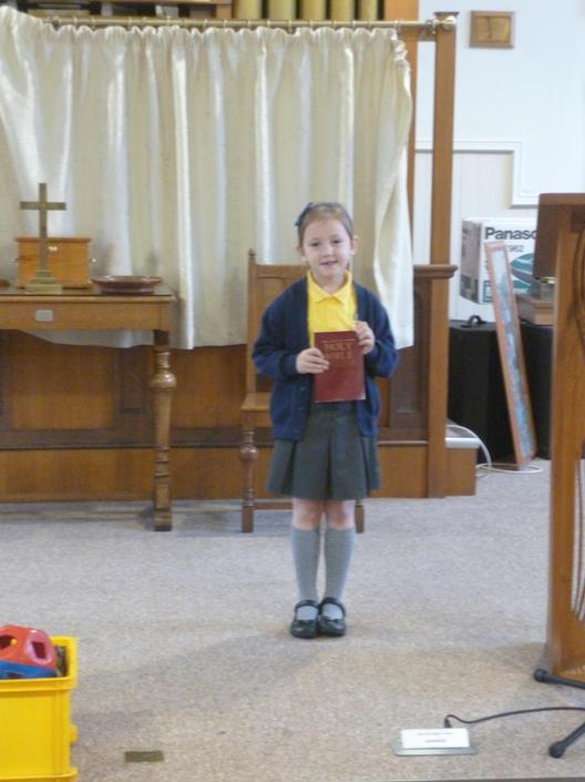 Lia and the bible!