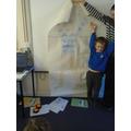 Jack's amazing life size portrait.