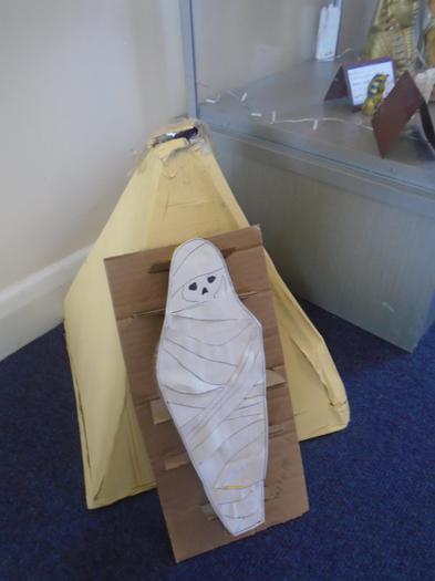 Wilf made a super mummy.