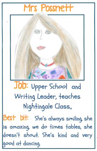 Mrs Possnett Senior Teacher and Nightingale Class