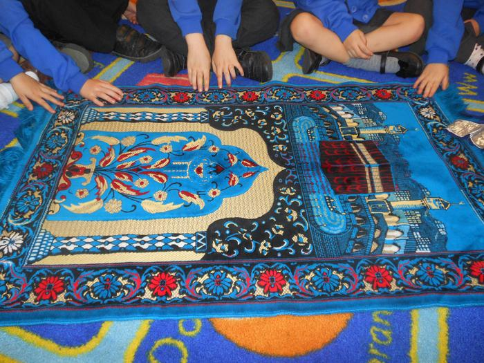 The prayer mat was very soft to touch.