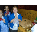 Playing the mummification game- gruesome fun!