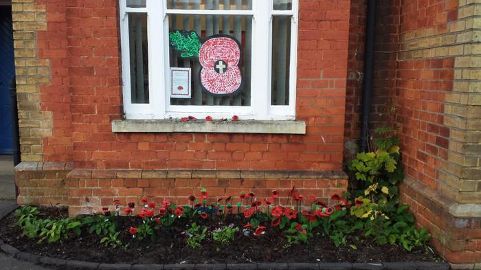 We will Remember 11-11-14 our ceramic poppy garden