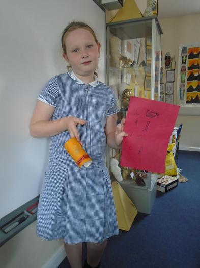 Chloe made a braclet and hieroglypics.