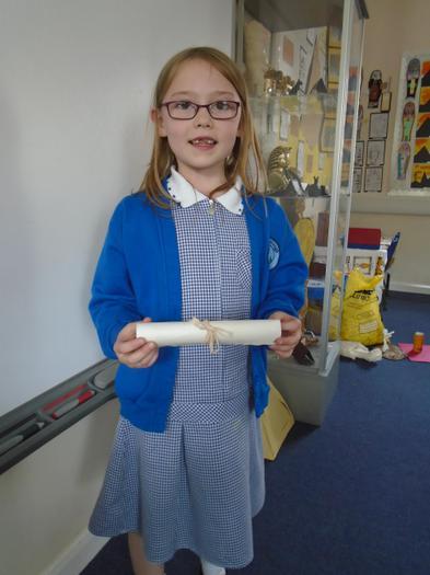 She made a scroll too.