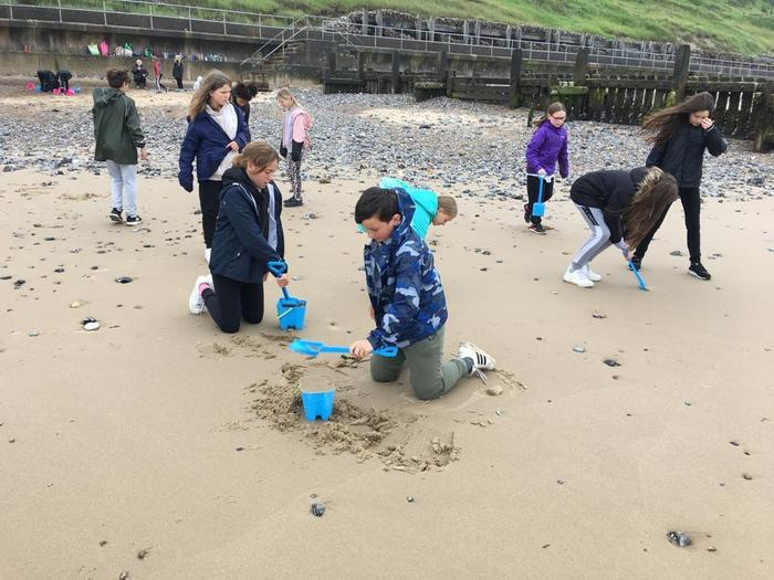 Can't beat a bit of sandcastle making!