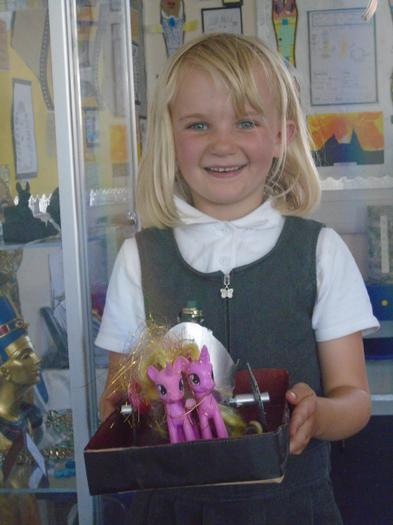 Lilliah made a fabulous Egyptian chariot.