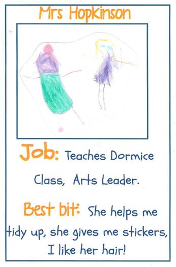 Mrs Hopkinson Arts Leader Roe Deer Class