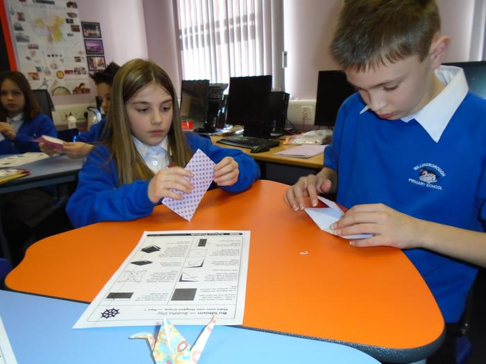 Following origami instructions!