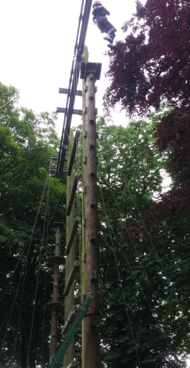Not afraid of heights! PGL June 2016