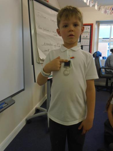 The medal his granddad received.