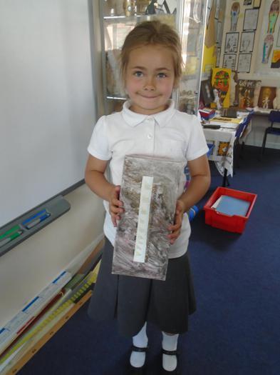 Constanza shows her sarcophagus.