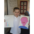 Jack's wonderful self portrait and bar chart.