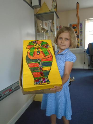She also made this amazing sarcophaghus.