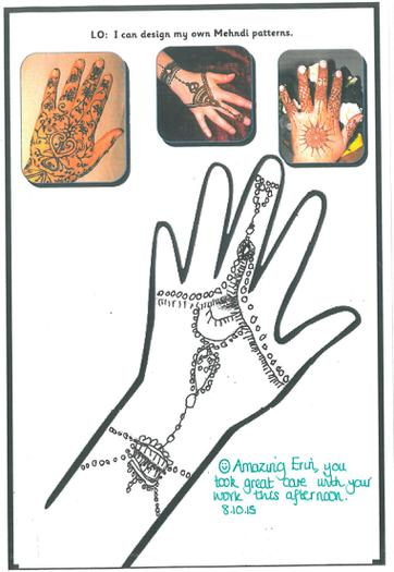 We created our own Mehndi patterns.