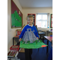 Liam built a fabulous model of a temple in Mexico.