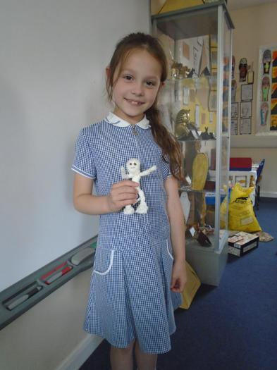Erin made a cute mummy!