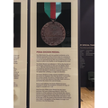 The PDSA's Dickin Medal for brave animals.