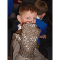 Saul with chainmail hand armour