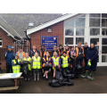 Litter picking with Myerscough College students, keeping our village clean!