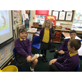 Acting out the story.