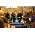 Education Sunday, school leaders answering questions from the children and parishioners