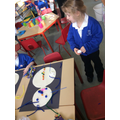 Snowman transient art