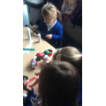 We made our very own paper chains!