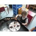 Autumn themed invitiation dough