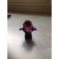 Mini clay models, following instruction and sensory input