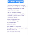 In Guided Reading we continued with the dragon theme with this poem