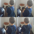 Theo playing a maths game