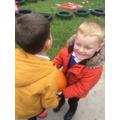 We went on a pumpkin hunt!