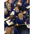 Practising our sentence writing