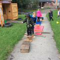 We built our obstacle course