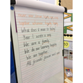 We made a poem as a class, we have great ideas!