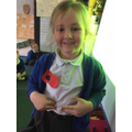 We made our own poppies!