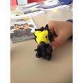 We really enjoyed making this little warewolf!