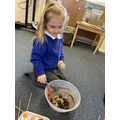 We made our own toffee apples - they were delicious!